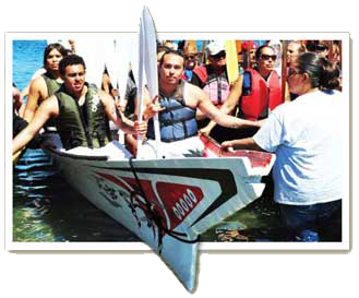 Paddle to Quinault - The Chehalis Canoe Family arrives at Makah and waits to ask permission to come ashore.