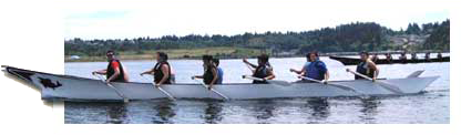 In late May, Chehalis tribal youth participated in a practice pull from Solo Point to Owens Beach with Squaxin, Nisqually, Puyallup, Muckleshoot, and Cowlitz tribal canoes.