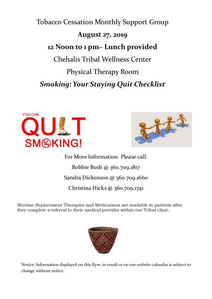 Tobacco Cessation Support Flyer