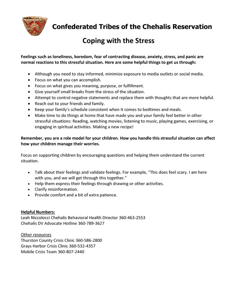 Coping with the Stress