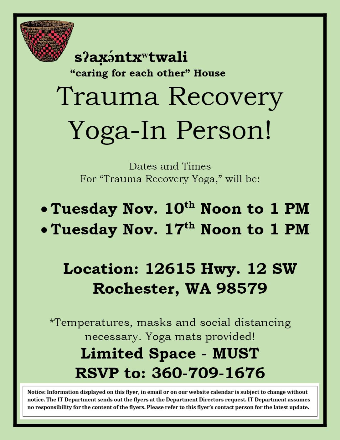 Truama Recovery Yoga
